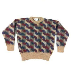 Vintage 100% Alpaca Wool Handknit Sweater